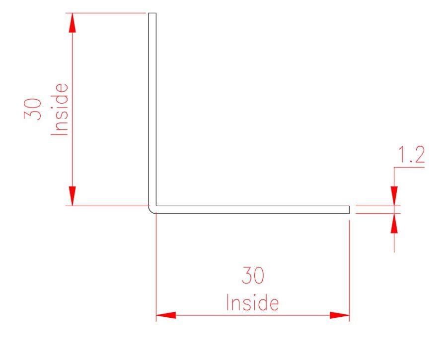 Angle Trim - Brass - Aged Inside - MHTRM29