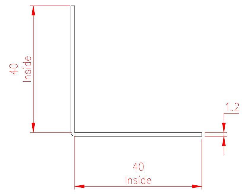 Angle Trim - Brass - Natural - MHTRM34