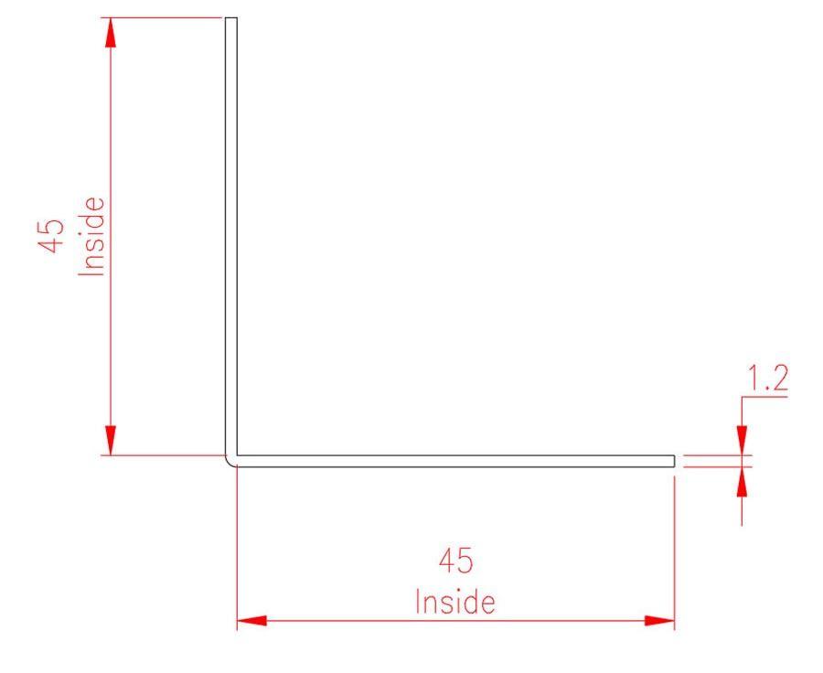 Angle Trim - Brass - Natural - MHTRM37