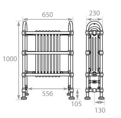 Horse Towel Radiator - Steel - Copper - MHJI034