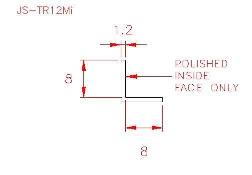 Angle Trim - Stainless Steel - Mirror Inside - 304 - JS-TR12Mi
