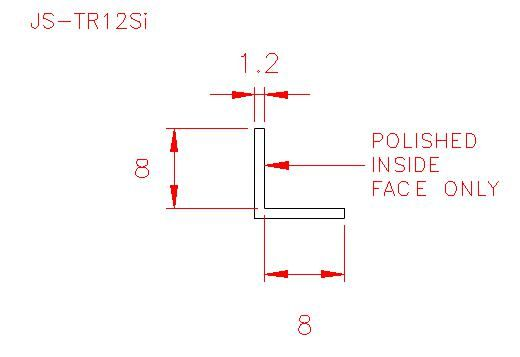Angle Trim - Stainless Steel - Satin Inside - 304 - JS-TR12Si