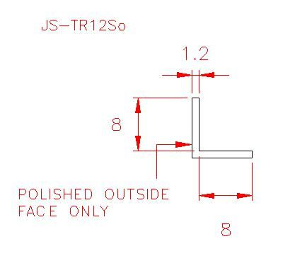Angle Trim - Stainless Steel - Satin Outside - 304 - JS-TR12So