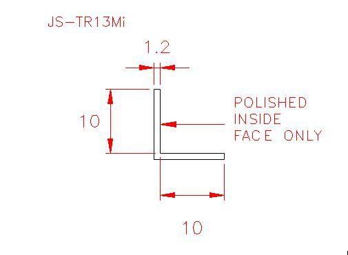 Angle Trim - Stainless Steel - Mirror Inside - 304 - JS-TR13Mi