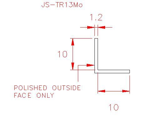 Angle Trim - Stainless Steel - Mirror Outside - 304 - JS-TR13Mo
