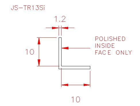 Angle Trim - Stainless Steel - Satin Inside - 304 - JS-TR13Si