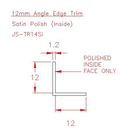 Angle Trim - Stainless Steel - Satin Inside - 304 - JS-TR14Si