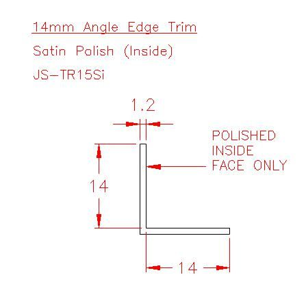 Angle Trim - Stainless Steel - Satin Inside - 304 - JS-TR15Si
