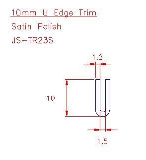 U Trim - Stainless Steel - Satin - 304 - JS-TR23S