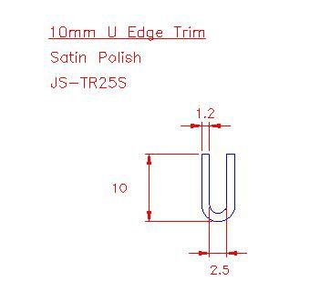 U Trim - Stainless Steel - Satin - 304 - JS-TR25S