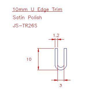 U Trim - Stainless Steel - Satin - 304 - JS-TR26S