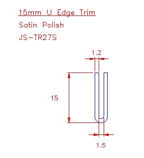 U Trim - Stainless Steel - Satin - 304 - JS-TR27S