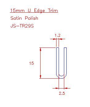U Trim - Stainless Steel - Satin - 304 - JS-TR29S