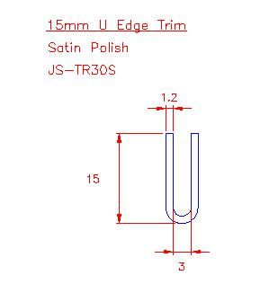 U Trim - Stainless Steel - Satin - 304 - JS-TR30S