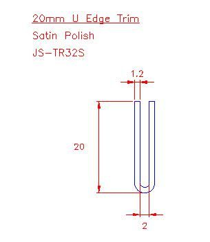 U Trim - Stainless Steel - Satin - 304 - JS-TR32S