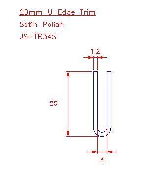 U Trim - Stainless Steel - Satin - 304 - JS-TR34S