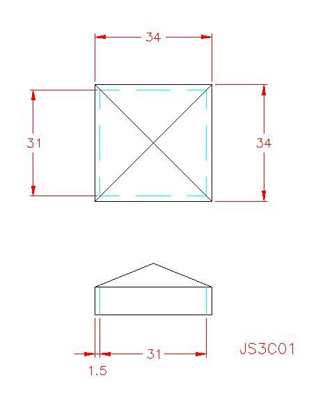 Square Post Cap - Stainless Steel - 304 - JS3C01