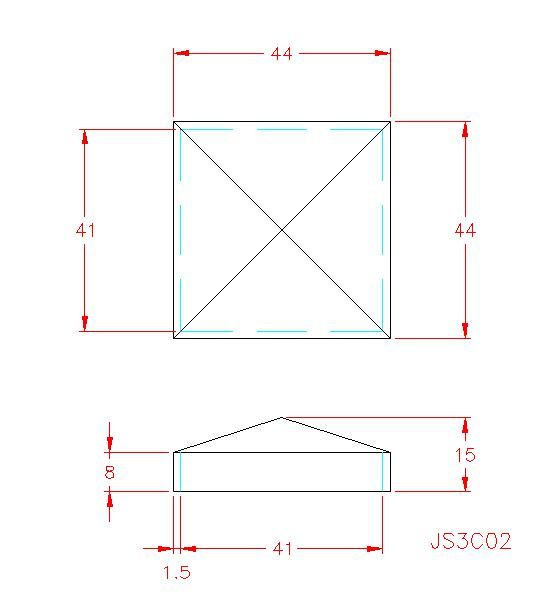 Square Post Cap - Stainless Steel - 304 - JS3C02