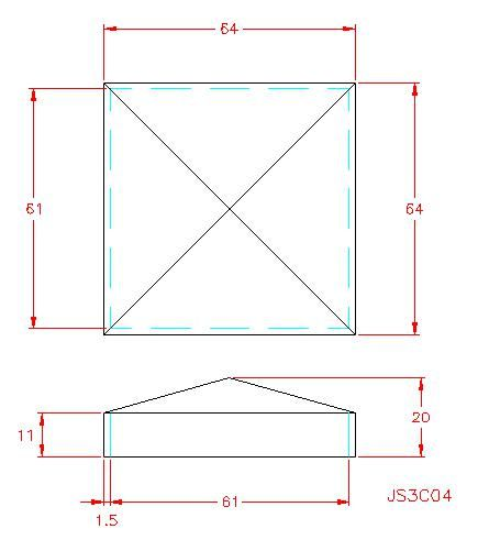 Square Post Cap - Stainless Steel - Satin - 304 - JS3C04