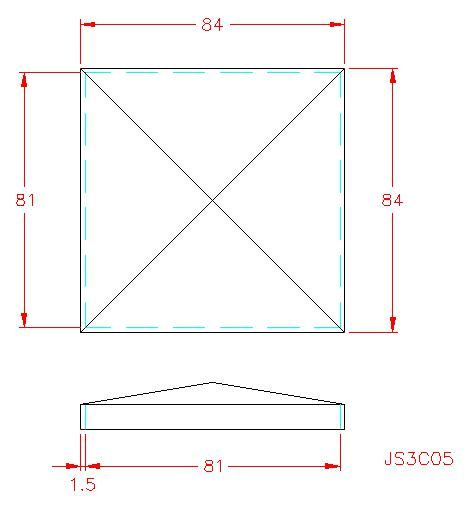 Square Post Cap - Stainless Steel - 304 - JS3C05