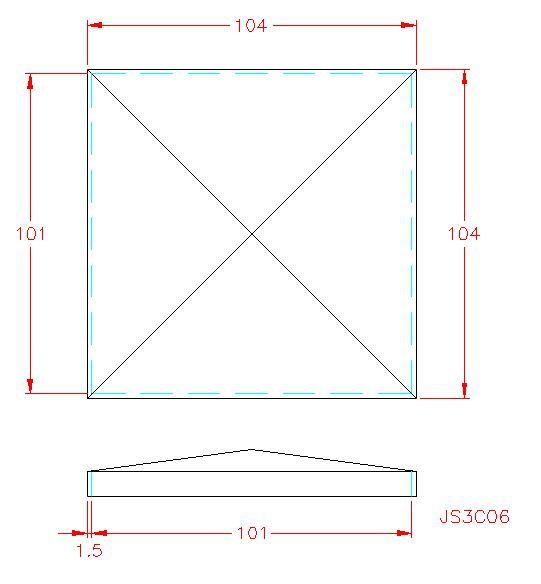 Square Post Cap - Stainless Steel - Satin - 304 - JS3C06