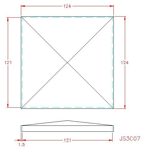 Square Post Cap - Stainless Steel - Satin - 304 - JS3C07