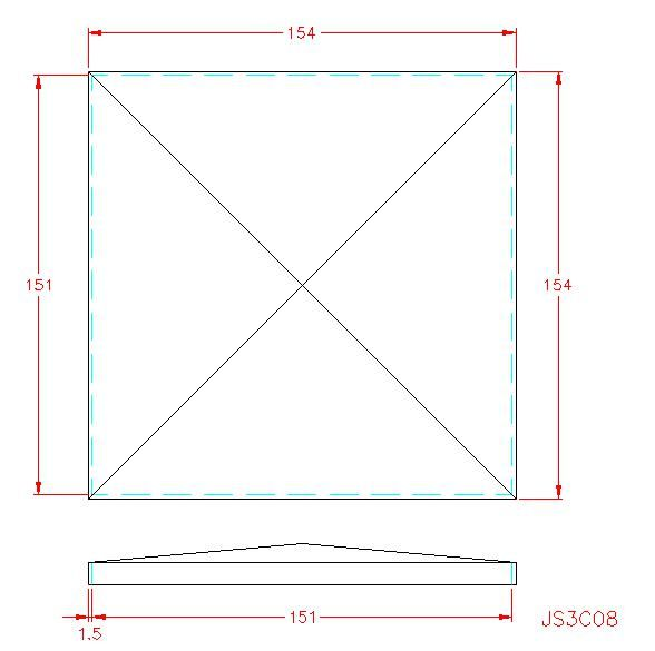 Square Post Cap - Stainless Steel - 304 - JS3C08