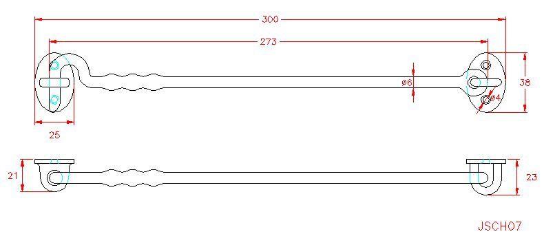 Cabin Hook - Stainless Steel - 316 - JSCH07