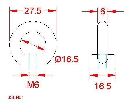 Eye Nut (to DIN 582) - Stainless Steel - 316 - JSEN01