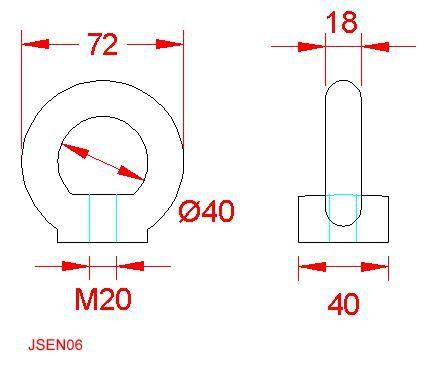 Eye Nut (to DIN 582) - Stainless Steel - 316 - JSEN06