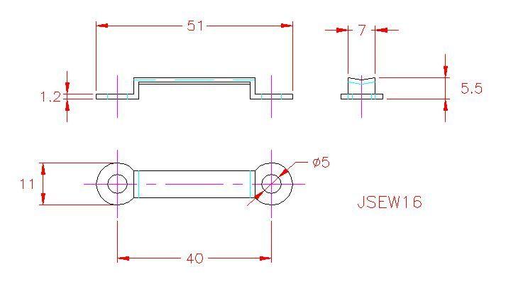Webbing Eye Strap - Stainless Steel - 316 - JSEW16