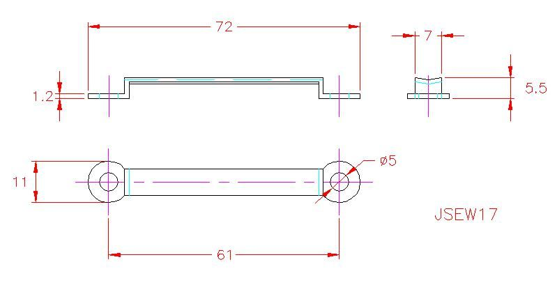 Webbing Eye Strap - Stainless Steel - 316 - JSEW17