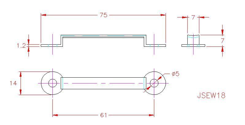 Webbing Eye Strap - Stainless Steel - 316 - JSEW18