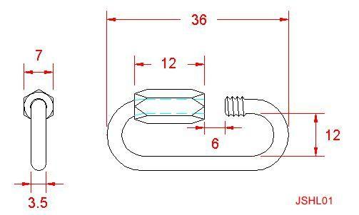 Standard Quick Link - Stainless Steel - 316 - JSHL01