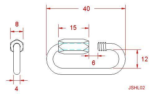 Standard Quick Link - Stainless Steel - 316 - JSHL02