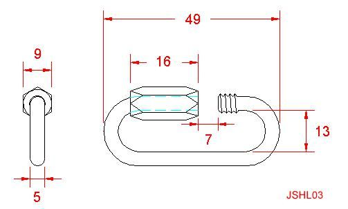 Standard Quick Link - Stainless Steel - 316 - JSHL03