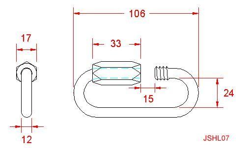 Standard Quick Link - Stainless Steel - 316 - JSHL07