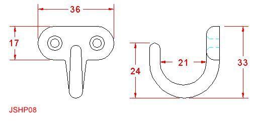 Horizontal Screw Open Hook - Stainless Steel - 316 - JSHP08