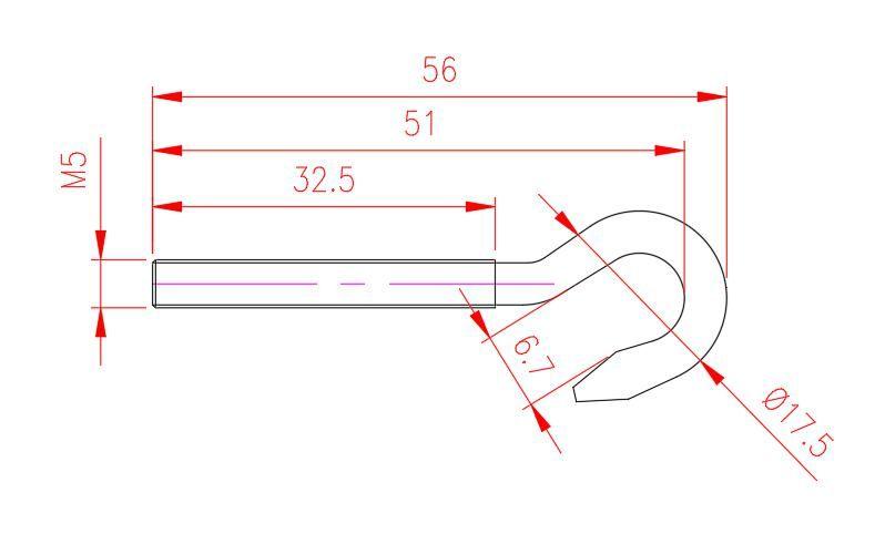 Screw Hook - Stainless Steel - JSHW06