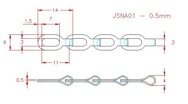 Safety Chain - Stainless Steel - 302 - JSNA01