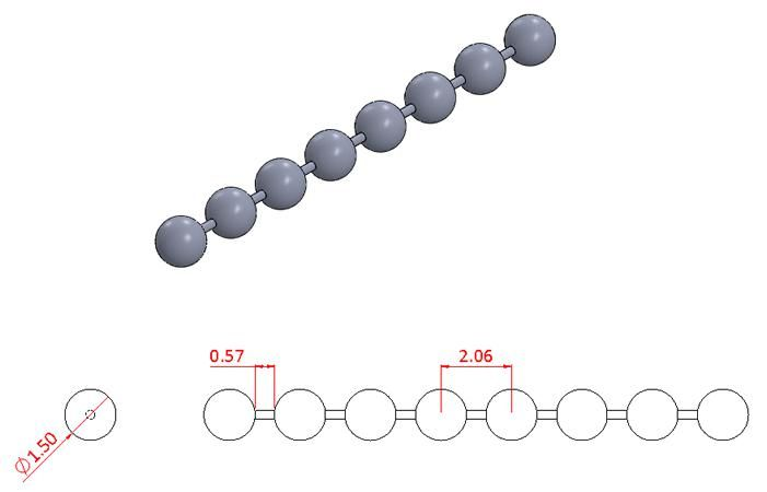 Bead Chain - Stainless Steel - Mirror - 304 - JSNB05