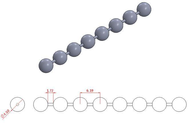 Bead Chain - Stainless Steel - Mirror - 304 - JSNB11