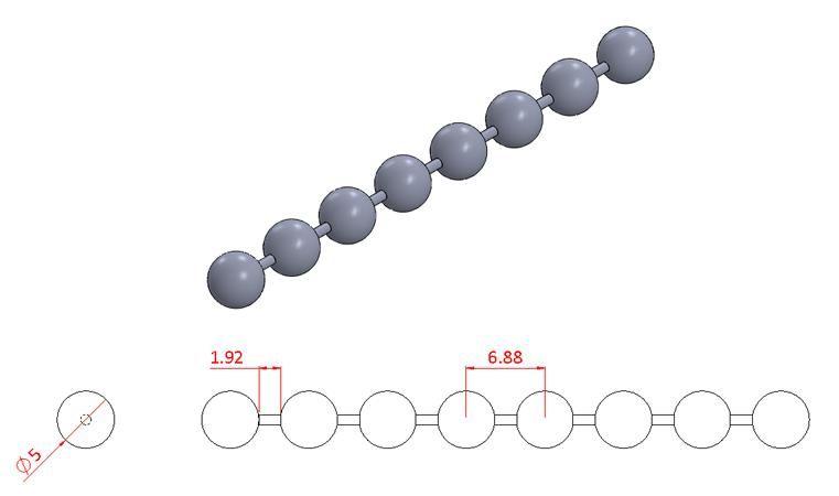 Bead Chain - Stainless Steel - Mirror - 304 - JSNB12