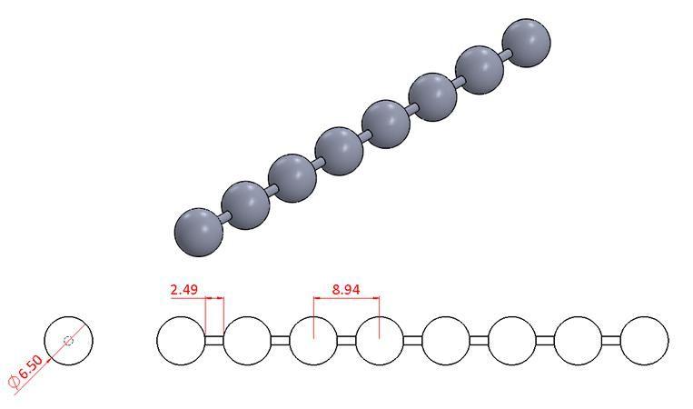 Bead Chain - Stainless Steel - Mirror - 304 - JSNB14