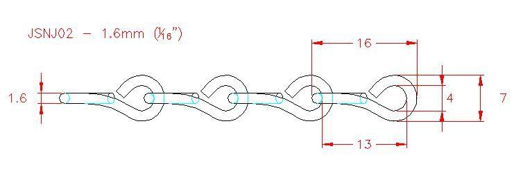 Single Jack Chain - Stainless Steel - 304 - JSNJ02