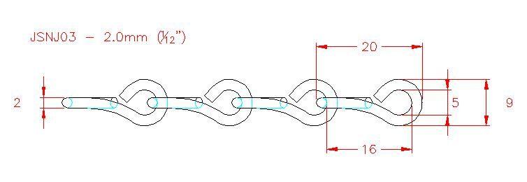 Single Jack Chain - Stainless Steel - 304 - JSNJ03