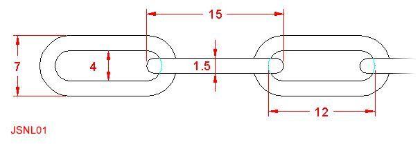 Long Link Chain - Stainless Steel - 316 - JSNL01