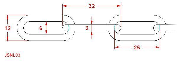 Long Link Chain - Stainless Steel - 316 - JSNL03