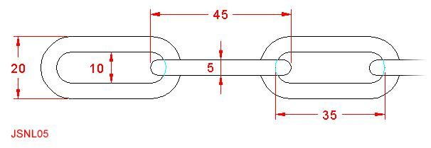 Long Link Chain - Stainless Steel - 316 - JSNL05