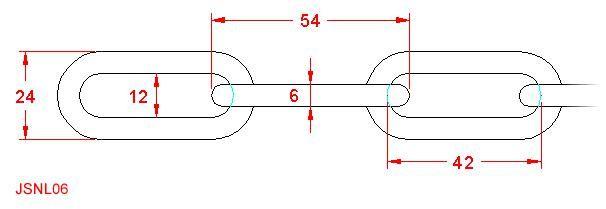 Long Link Chain - Stainless Steel - 316 - JSNL06